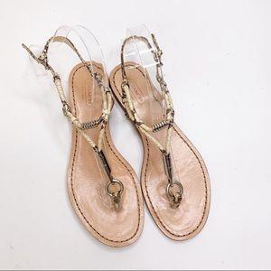 COACH Opal Snakeskin Sandal Size 7